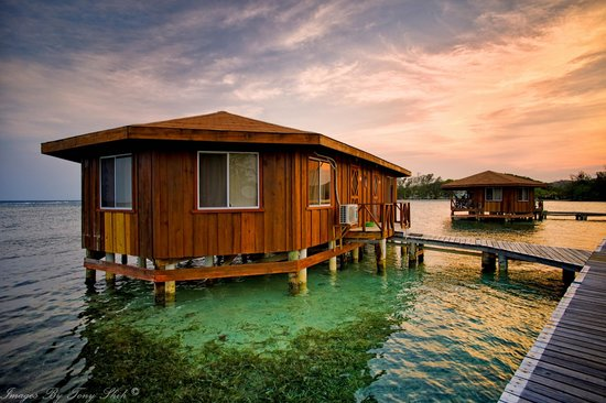 CoCo View Resort : Bungalow #A & B at sunset