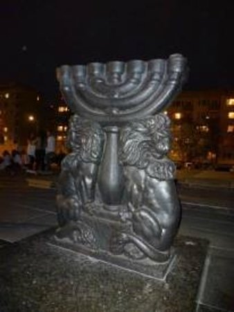 Jewish Ghetto Memorial : The Menorah.
