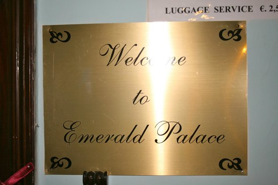 Emerald Palace : The Plaque