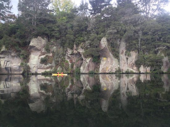The Boatshed Kayaks: Reflections on a lake surface