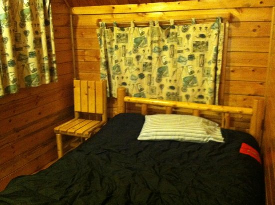 West Omaha KOA: double bed (bring your own sheets and bed linens)