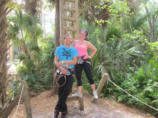 Treetop Trek: End of the course.