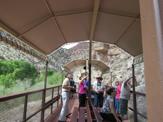 Verde Canyon Railroad: The open car on the train