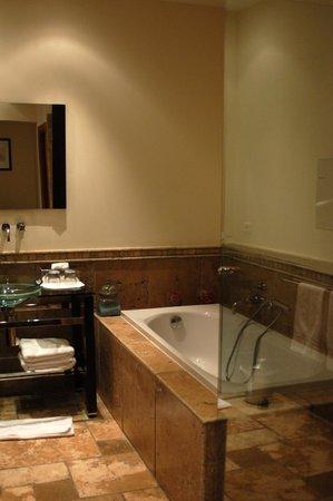 Domaine de Saint Domingue : one half of the enormous bathroom