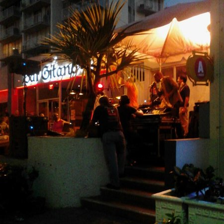Canario Boutique Hotel : Across the street from in Bar Gitano Restaurant with live music.