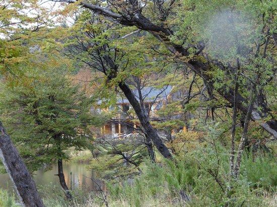 Rio Hermoso Hotel de Montana: Vista del Hotel desde el bosque