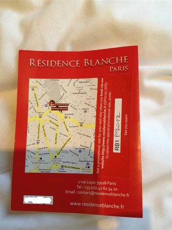 Residence Blanche: present this discount code, if you're interested to stay there :)