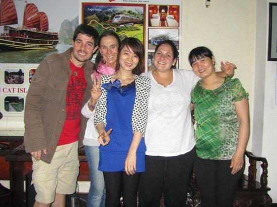The amazing girls from Hanoi City Hostel!!!
