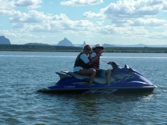 Caloundra Jet Ski: The beautiful Glasshouse Mountains from Tripcony Bight