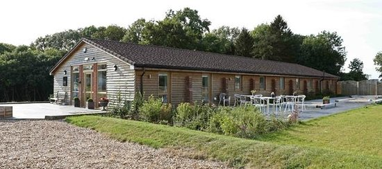 The Old Piggery Guest House & Yurts: Decked outside BBQ and seating area