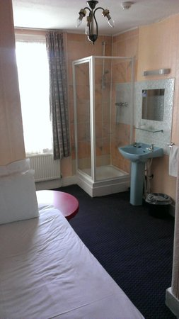 Manor Hotel : Nice convenient shower or had Dr Who landed!