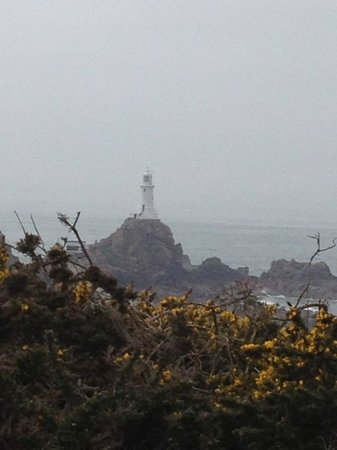 Corbiere Phare : Corbiere Lighthouse emerging from the mist