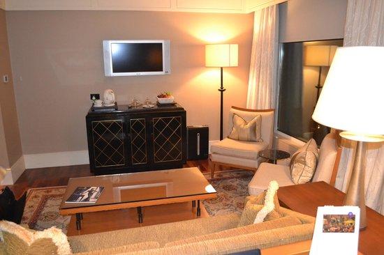 The Leela Mumbai: Living room and office space at the Leela in Mumbai