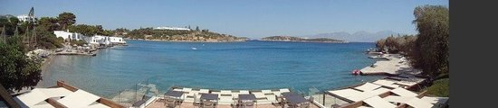 Minos Beach Art hotel: View from the restuarant