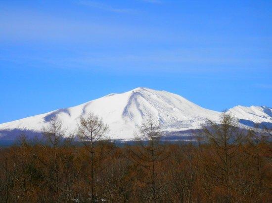 Villa Kitakaruizawa L-Wing: ベランダから見た浅間山