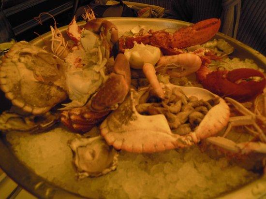 Le Chat qui peche : plateaux de fruit de mer royale