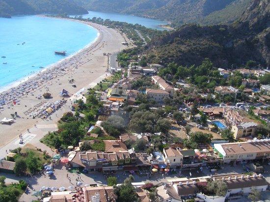 Strand von Ölüdeniz (Blaue Lagune): Coming into land at Olu Deniz