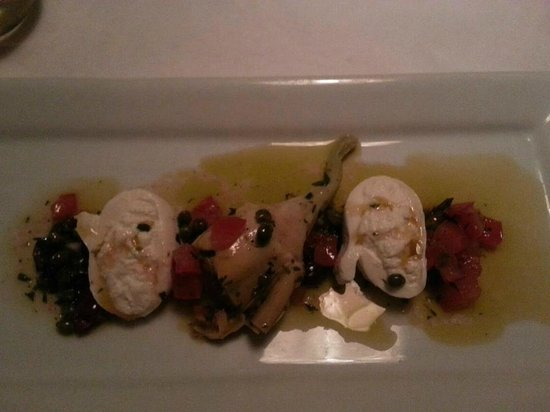 Fuel Restaurant: 1st course. Burrata Plate