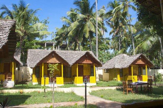 Savithri Inn: outside huts