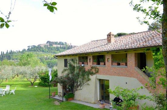 Agriturismo Nobile: Reception con Montepulciano
