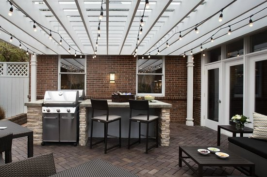 Homewood Suites By Hilton Memphis Poplar Outdoor Kitchen W 2 Stainless Steel Grills