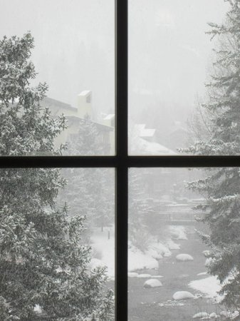 Austria Haus Hotel: View from one of the windows on a snowy morning