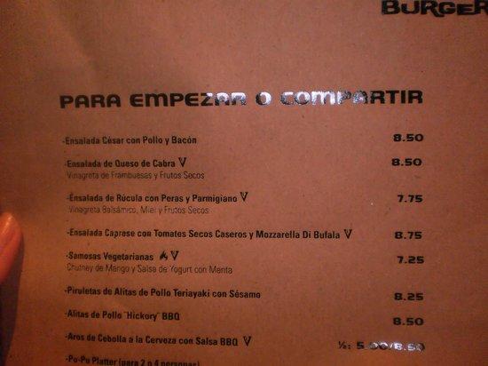Home Burguer Bar : cardapio