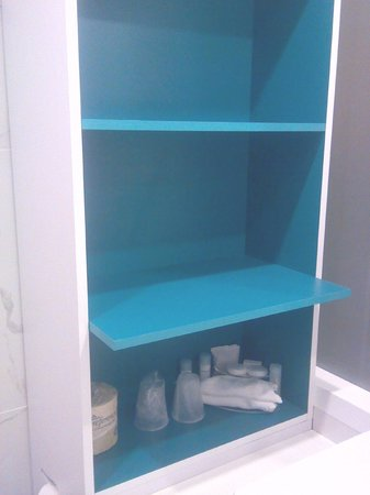 Lots of storage space for toiletries