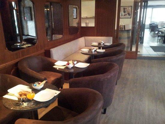 Hotel de l'Ange : Lounge in der Bar