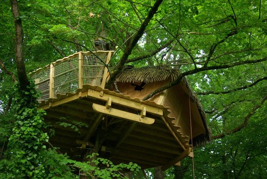 La cabane dans les arbres au Pays du Futuroscope