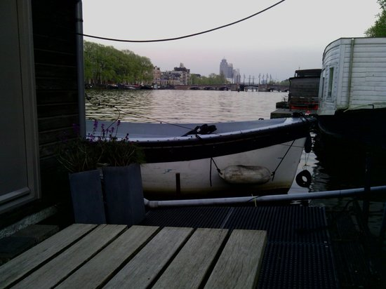 Houseboat Little Amstel: View from the Seating area