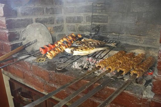 Ejder : Chicken, fish and adana (while grilled)