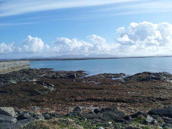 Connemara Championship Golf Links: Shoreline down the road