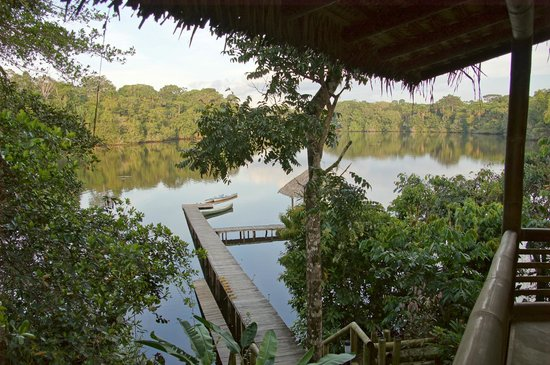 La Selva Amazon Ecolodge: view from the lodge overlooking the lake