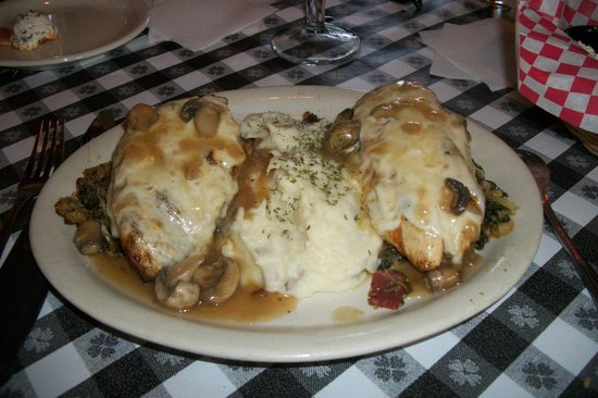 Delmonico's Italian Steakhouse : Chicken Sinatra, yummy!