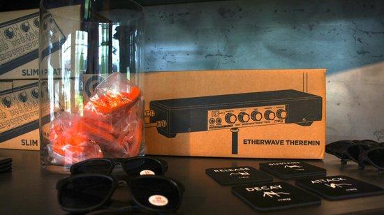 Moog Music Factory Tour: Moog Merchandise