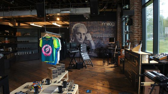 Moog Music Factory Tour: Moog Music Factory showroom