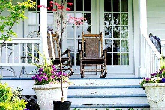 The Farmhouse at Veritas: Chairs on Backporch