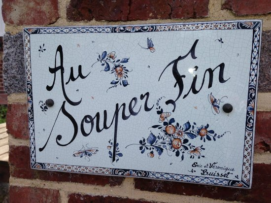Restaurant Au Souper Fin: Name plate 1 of restaurant