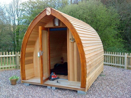 Hele Valley Holiday Park: Glamping pod!