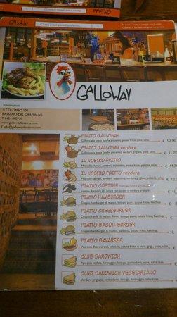 Il menù - Foto di Galloway, Bassano Del Grappa - TripAdvisor