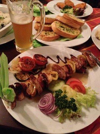 Svatovaclavsky Pivovar: pork tenderloin on skewer
