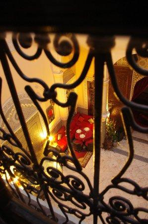 Riad Ibn Battouta : Patio vue du balcon