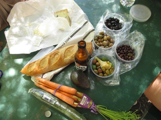 St. Helena Olive Oil Company: baguette, cheese and salami from the St. Helena Olive Oil Co