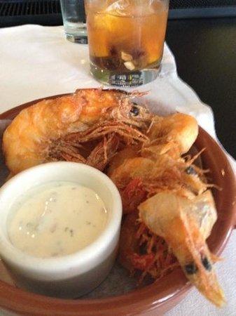 Herbsaint : fried soft shell shrimp