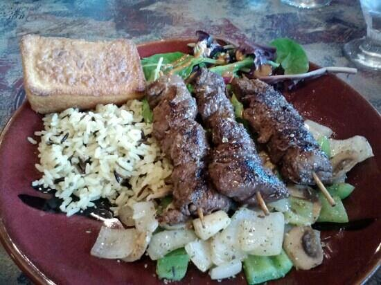 Trailhead Restaurant: wild game skewers..lamb, buffalo and elk