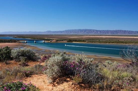 Port Augusta, Australia: View from the lookout, not too hard on the eyes.