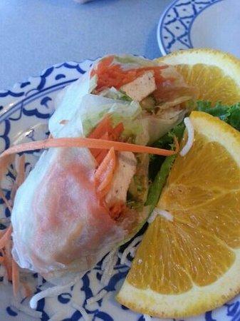 Thai Plate: spring rolls