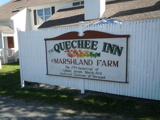 Quechee Inn At Marshland Farm: Sign