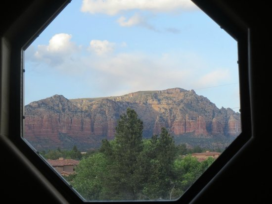 Las Posadas of Sedona: View from octagon window in the bathroom